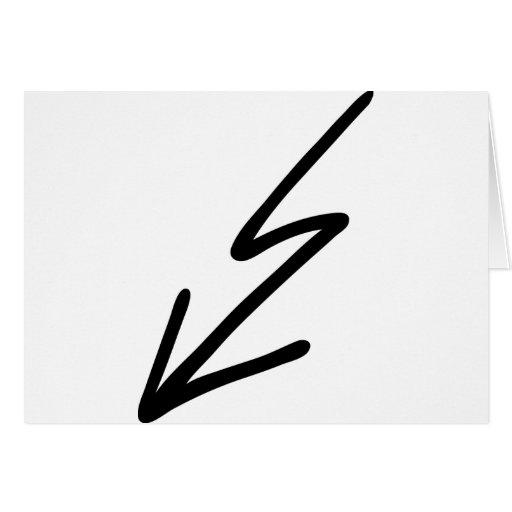 flash negro tarjeta de felicitación