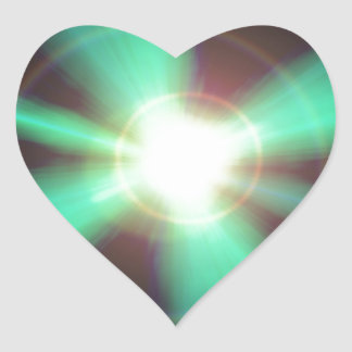 Flash of light heart sticker