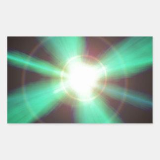 Flash of light rectangular sticker