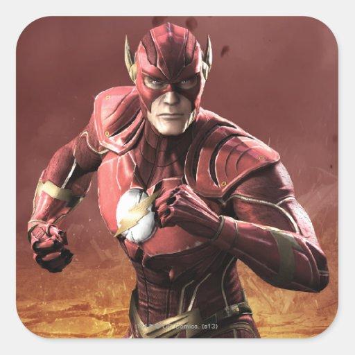 Flash Pegatina Cuadrada