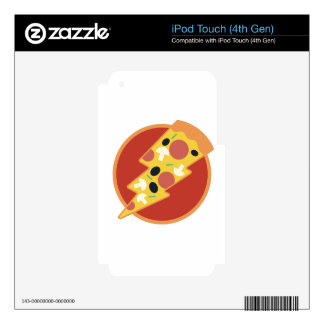 Flash Pizza iPod Touch 4G Decal
