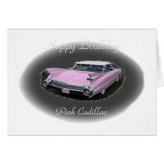 Flash rosado de Cadillac Felicitacion