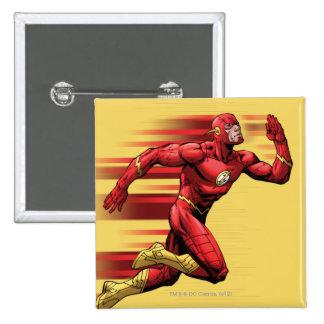 Flash Running Pinback Button