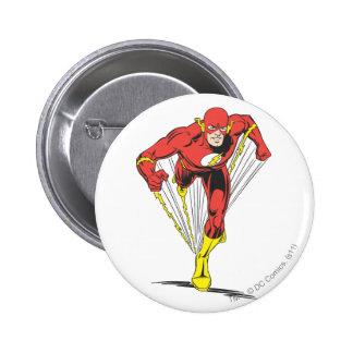 Flash Runs Forward 2 Inch Round Button