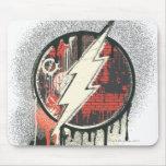 Flash - símbolo torcido de la inocencia alfombrilla de ratón