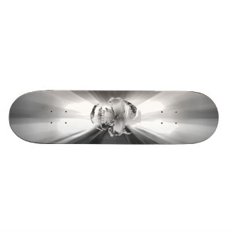 FLASH SKULL SILVER SURFER SKATE DECK