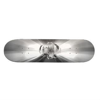 FLASH SKULL SILVER SURFER SKATEBOARD DECK