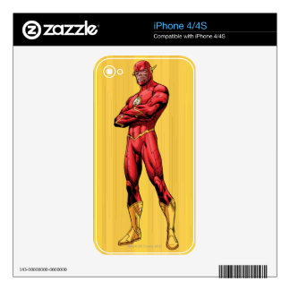 Flash Standing iPhone 4 Decal