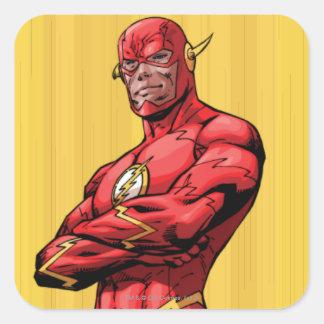 Flash Standing Square Sticker