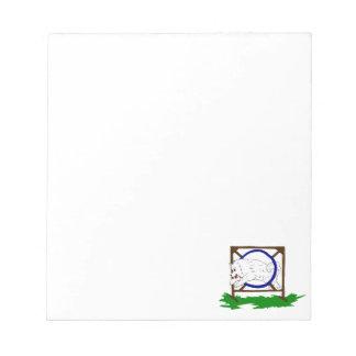 Flash the Samoyed Note Pad