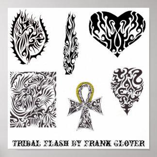 Flash tribal de la colección 1 del guantero de Fra Póster