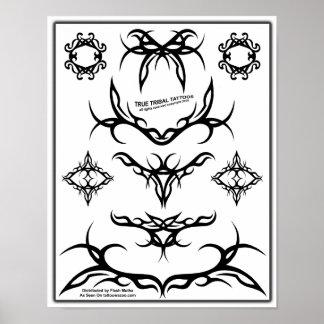 Flash tribal verdadero sheet-Z06 del tatuaje Poster