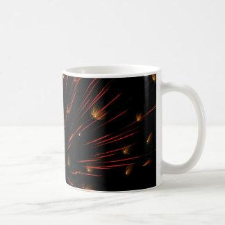 Flash y centelleo anaranjados taza de café