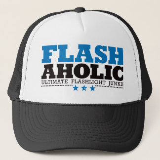 Flashaholic – Ultimate Flashlight Junkie - Blue Trucker Hat