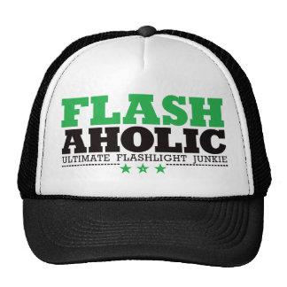 Flashaholic – Ultimate Flashlight Junkie - Green Trucker Hat