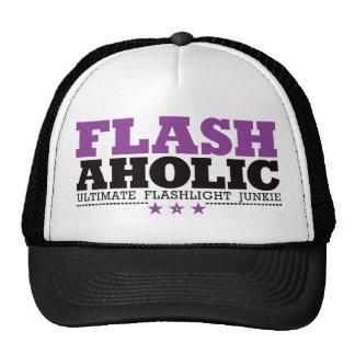 Flashaholic – Ultimate Flashlight Junkie - Purple Trucker Hat