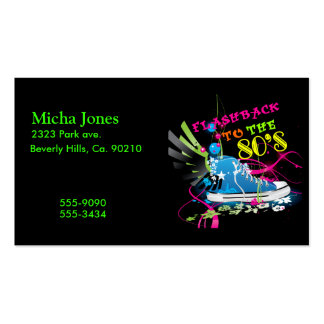 Flashback To The 80's Neon Sneaker Business Cards