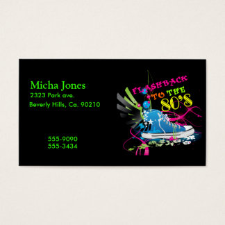 Flashback To The 80's Neon Sneaker Business Card