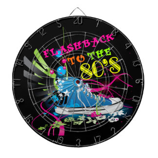 Flashback To The 80's Neon Sneaker Dartboard With Darts