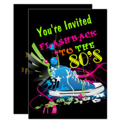 Flashback To The 80's Neon Sneaker Invitation