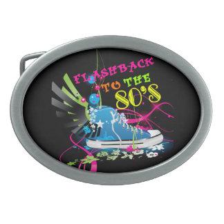 Flashback To The 80's Neon Sneaker Oval Belt Buckle
