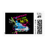 Flashback To The 80's Neon Sneaker Postage Stamp