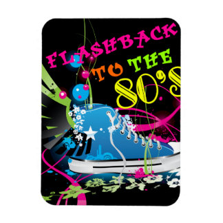 Flashback To The 80's Neon Sneaker Rectangular Photo Magnet