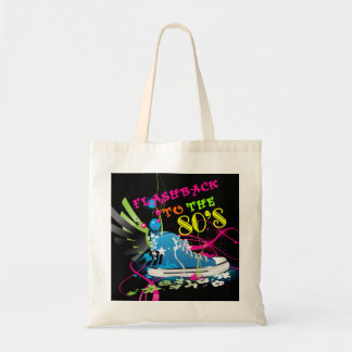 Flashback To The 80's Neon Sneaker Tote Bag