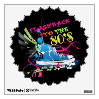 Flashback To The 80's Neon Sneaker Wall Decal