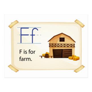 Flashcard de la granja postales