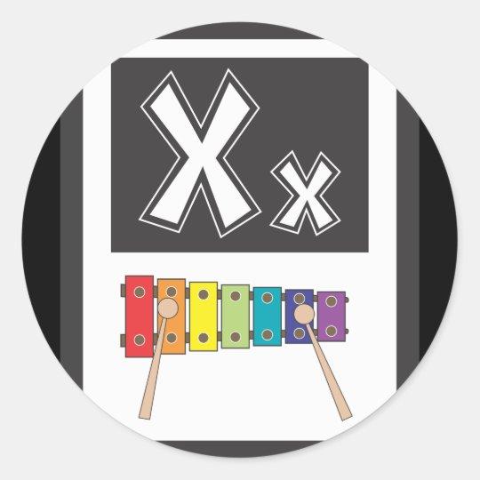 FlashCardX Classic Round Sticker