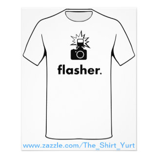 Flasher Photographer Camera Flyer