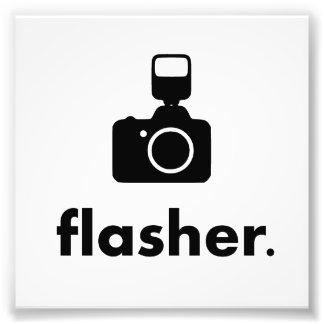 Flasher Photographer Camera Photo Print