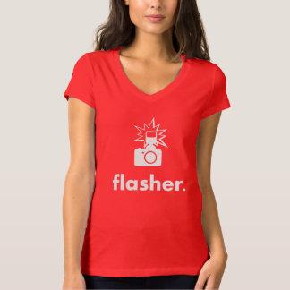 Flasher Photographer Camera T Shirt