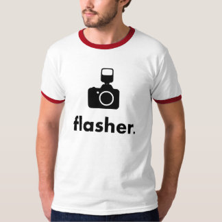 Flasher Photographer Camera T-Shirt