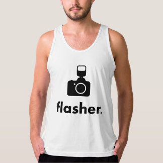 Flasher Photographer Camera Tank Top