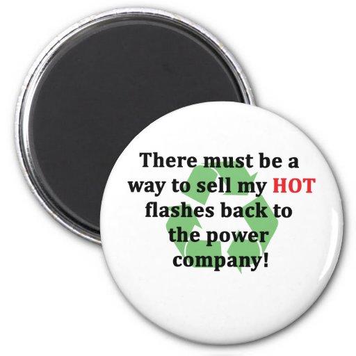 Flashes calientes… divertidos iman de nevera