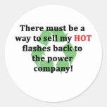 Flashes calientes… divertidos pegatinas