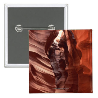 Flashflood-eroded sandstone formations of 2 inch square button