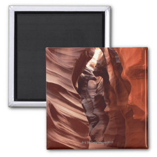 Flashflood-eroded sandstone formations of 2 inch square magnet