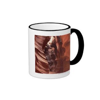 Flashflood-eroded sandstone formations of ringer coffee mug
