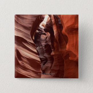 Flashflood-eroded sandstone formations of pinback button