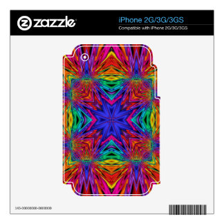 Flashing Fractal No4 iPhone Skin Decals For The iPhone 2G