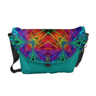 Flashing Fractals No 1 Messenger Bag