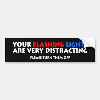Flashing Lights Police Cops Highway Patrol Bumper Stickers