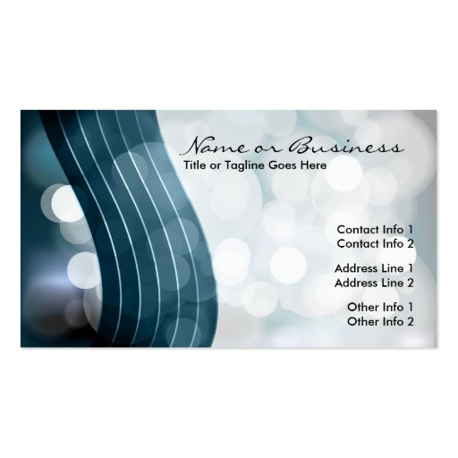flashing lights with QR code Business Card