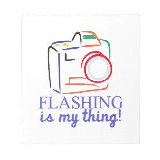 Flashing My Thing Notepad