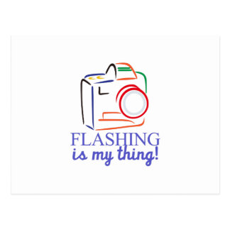 Flashing My Thing Postcard