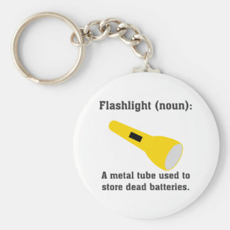 Flashlight definition funny t-shirts and more. basic round button keychain