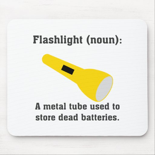 Flashlight definition funny t-shirts and more. mouse pad